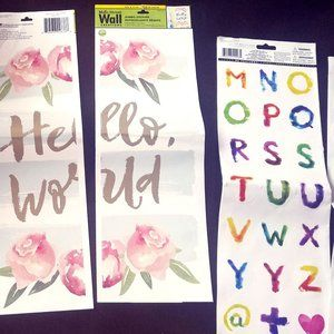 Hello World Home Décor/50 Letter Stickers